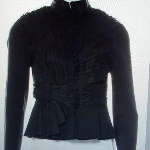Robert Rodriguez Black Ruffled Jacket